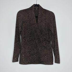 Talbots Snakeskin Wrap Sweater
